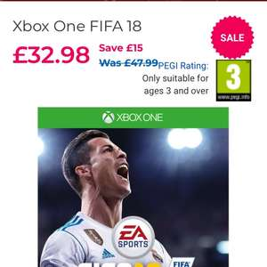 FIFA 18 Xbox One £32.98 @ Toy's R Us