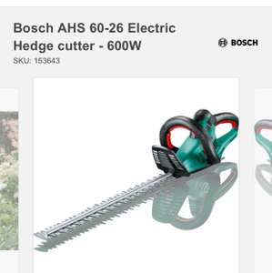 Bosch AHS 60-26 Electric Hedgecutter @ homebase - £50