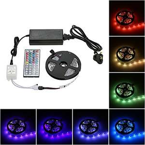 5m 150 LED strip tape light with controller - Just £12.99 (Prime) £16.98 (Non Prime) Sold by G-Mile and Fulfilled by Amazon