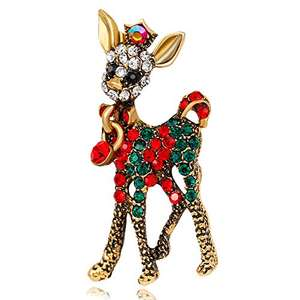 Gold Plating and Swarovski Crystals Brooch Pin Christmas Party Decoration Ornament  £6.90 (Prime) / £10.89 (non Prime) Sold by LANMPU and Fulfilled by Amazon.