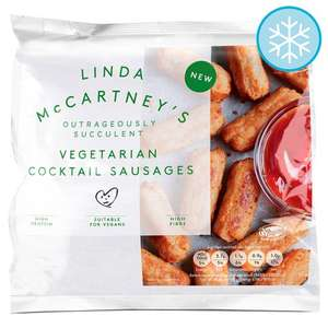Linda McCartney Vegetarian Mini Sausages (320g) was £2.00 now 3 packs for £5.00 @ Tesco