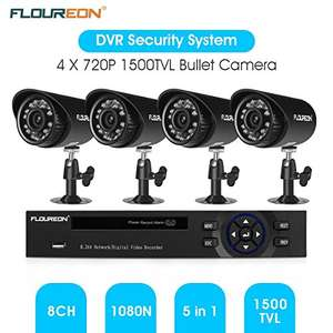 FLOUREON 8CH CCTV 1080N DVR Kit 5x 720P Cameras £27.99 Sold by ZLYUK and Fulfilled by Amazon.