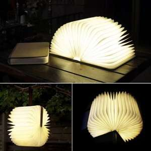 Creative Flip Book Page LED Nightlight / ZBOLE Foldable Paper Book Wooden Lamp (Maple) £14.60 each Delivered with code @ Gearbest