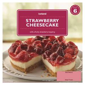 Iceland Strawberry Cheesecake with a Fruity Strawberry Topping (540g) ONLY  £1.00