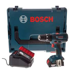 Bosch Professional GSB 18-2-LI Plus Cordless Combi Drill with Two 18 V 2.0 Ah Lithium-Ion Batteries - L-Boxx £89.99 @ Amazon