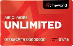 Cineworld Unlimited card £156.39 (£174.95 including West End) instead of £214.80 via KidsPass (Do NOT post referrals)