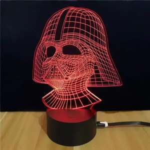 Star Wars Darth Vader Shape 3D LEDLamp - £5.26 @ GearBest
