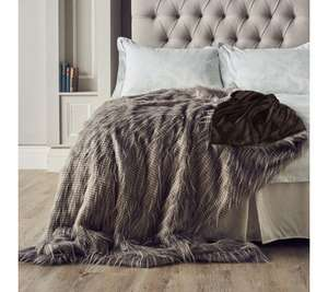 Beautiful Tipped Faux Fur Throw - Now £58.92 @ QVC