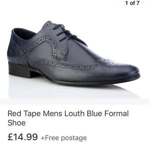 Men's red tape leather formal brogue shoes £14.99 delivered at eBay sell redtape