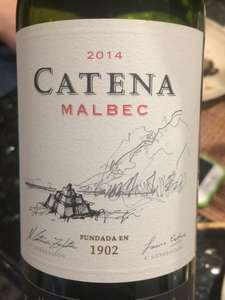 Catena Zapata Argentinian Malbec  Waitrose 25% off selected wine - £9.99