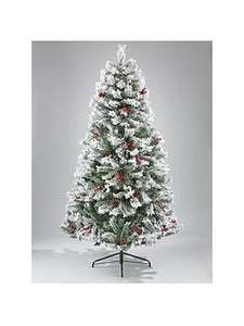 7ft Bavarian Pine Christmas Tree with Snow for £89.99 @ Very