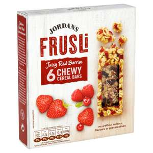 Jordans Frusli Juicy Red Berries Chewy Cereal Bars 6x30g (180g) - £1 @ Iceland