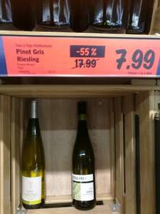 Alsace Pinot Gris Riesling wine reduced from £17.99 Lidl - £7.99