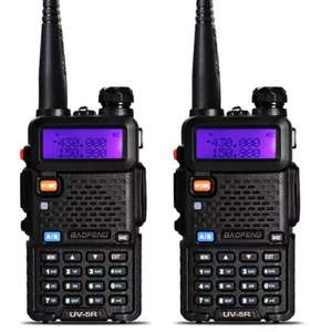 2 X BAOFENG UV 5R WALKIE TALKIE RADIOS, £27.02 delivered @ gearbest