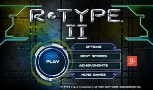 R-TYPE II reduced to 89p @ Google Play Store