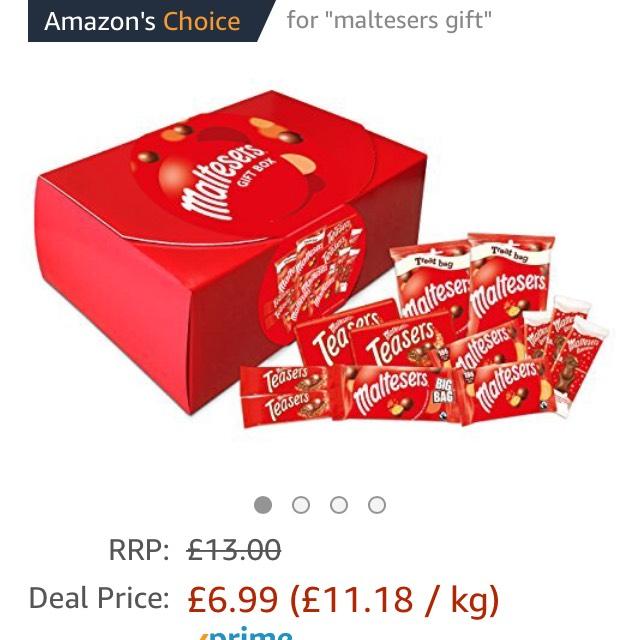 Maltesers chocolate gift box 625.5g £6.99 (Prime) £11.74 (Non Prime) at Amazon