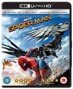 Spider-Man Homecoming 4K with code XTRA15 Free P&P £16.99 @ Taketimeoutentertain
