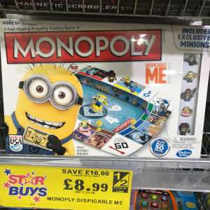 monopoly despicable me £8.99 @ Home bargains