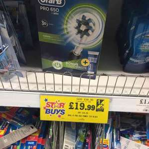 ORAL B 650 electric toothbrush & ORAL B Tooth Paste @ home bargains £19.99
