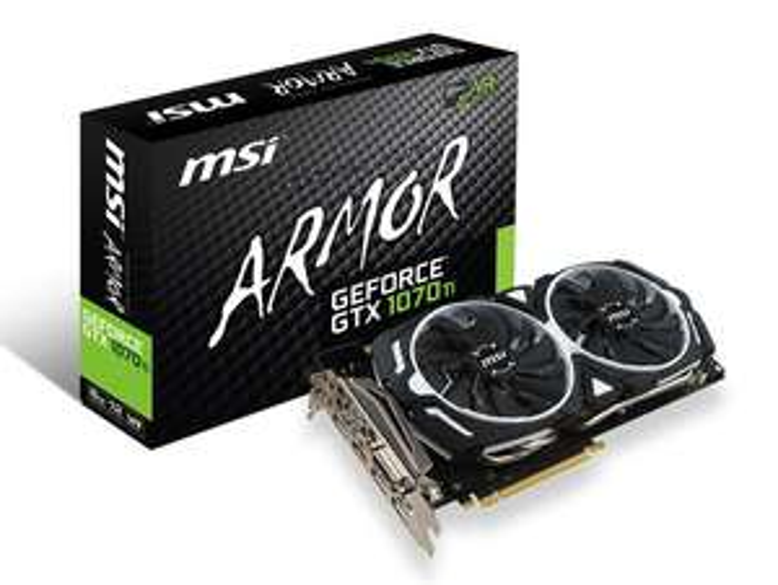 MSI GeForce GTX 1070 Ti ARMOR 8G Graphics Card - novatech.co.uk £419