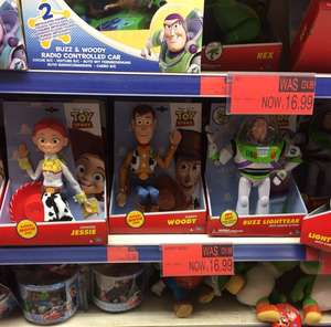 Toy Story Movie size dolls reduced to £16.99 B&M In Store Woody, Jessie, Buzz, Bullseye and Rex available nationwide