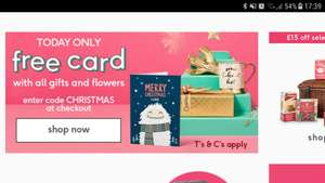 Free card with any gift @ Moonpig