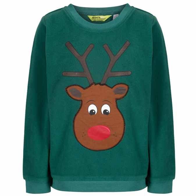 Regatta-Green 'Carew' kids (3-14 yrs) fleece jumper @ Debenhams £12 free c&c or £3.49 p&p