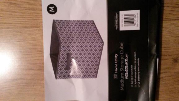 Medium Storage Cube @ Home Bargains Preston - £1.59