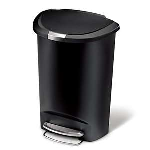 Simplehuman Semi - Round Pedal Bin 50 L - Black Plastic £30.99 delivered @ Amazon