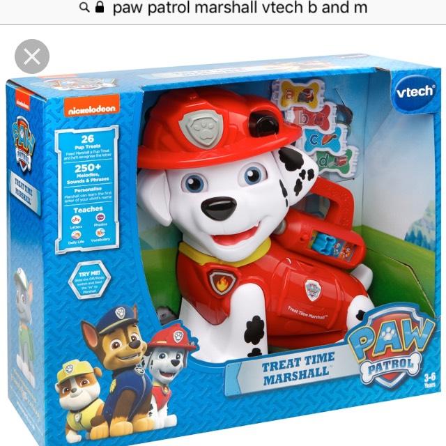 Vtech Paw Patrol Marshall Treat time £24.99 B&M Nationwide