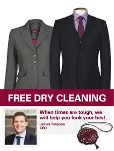 Free Suit Dry-Cleaning for unemployed going for their interview @ Timpson