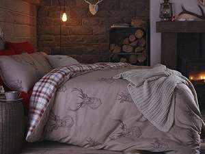 Catherine Lansfield Red Stag Red Duvet Cover Set - Double £18.99 @ tesco