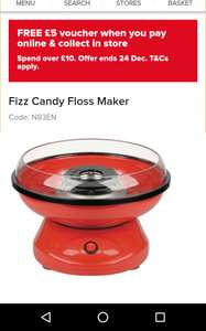 Candy floss maker reduced to £14.99 maplin