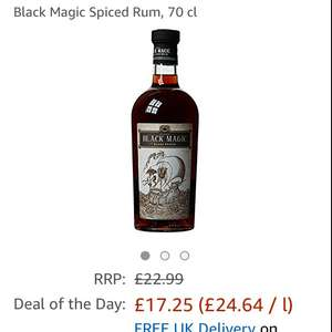 Black magic spiced rum £17.25 Prime / £22 Non Prime at Amazon (better than Kraken)