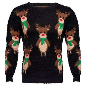 Nutmeg Christmas Jumpers now Half price - Women's Black Reindeer Jumper £6 - Nutmeg Men's Fairisle Jumper £6 (See OP) @ Morrisons