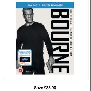The Bourne Collection bluray with digital download 11.99 delivered at zavvi