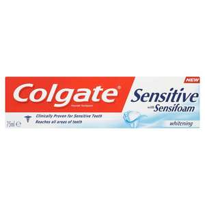 Colgate Sensitive Sensifoam Whitening Toothpaste 125ml in  Poundworld.- £1