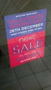 Next Boxing Day sale