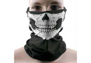 Outdoor Windproof Skull Face Tube Mask for Cycling - Random Color at Zapals for 30p