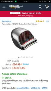 Remington HC2450 hair clippers £24.99 @ Amazon