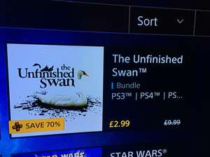 The unfinished Swan PS4 - psn store for £2.99