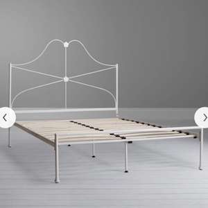 John Lewis Mary Bed Frame, King Size, White - £79
