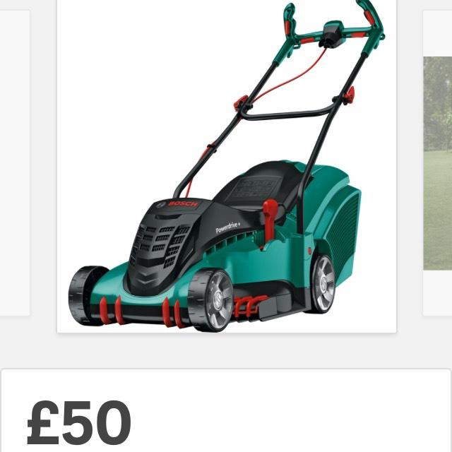 Bosch Rotak 40-17 Ergoflex Electric Rotary Lawn Mower £50 at Homebase