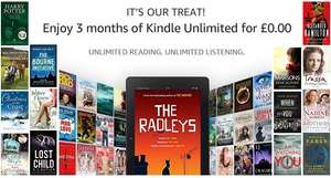 3 months of Kindle Unlimited for free (then £7.99 a month)
