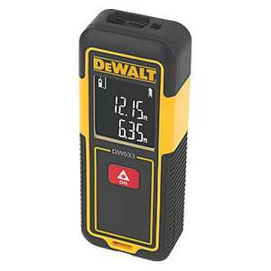 SCREWFIX - DEWALT LASER DISTANCE MEASURE - DW033-XJ - £39.99