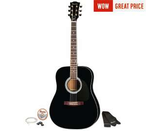 Maestro by Gibson Full Size Acoustic Guitar - Black or Natural at Argos £79.99