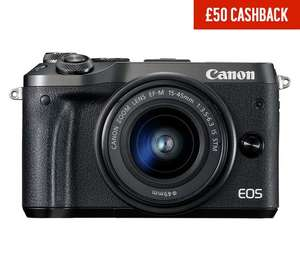 Canon EOS M6 15-45mm £499.99  and possibly £399.99 After £50 Discount Code & £50 Cashback @ Argos