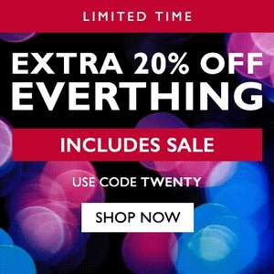Moss. Extra 20% off everything with code TWENTY