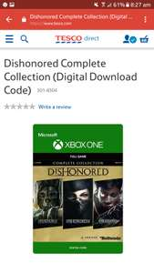 Dishonored Complete Collection Digital Download £7.99 @ Tesco Direct