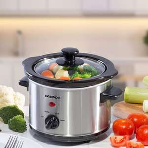 Daewoo 1.5L Slow Cooker – Stainless Steel from From Robert Dyas - £11.99